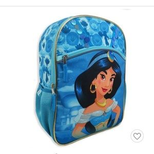 "Disney Aladdin Jasmine 16""Kids Back-Teal"